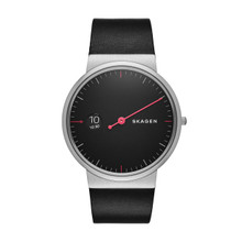 Skagen Ancher Black Dial Leather Men's Watch SKW6236
