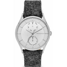 Skagen Holst Men's Felt Leather Band Watch SKW6238