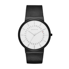 Skagen Ancher White Dial Leather Mens Watch SKW6243
