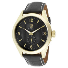 S. Coifman Men's SC0114 Quartz 3 Hand Black Dial  Watch