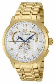 S. Coifman Men's SC0237 Quartz Chronograph Silver Dial  Watch
