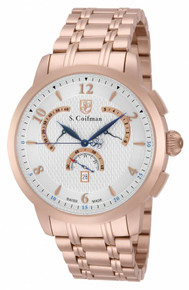 S. Coifman Men's SC0239 Quartz Chronograph Silver Dial  Watch
