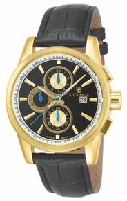 S. Coifman Men's SC0255 Quartz Chronograph Black Dial  Watch