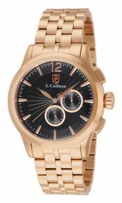 S. Coifman Men's SC0272 Quartz Chronograph Black Dial  Watch