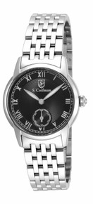 S. Coifman Women's SC0348 Quartz 3 Hand Black Dial  Watch