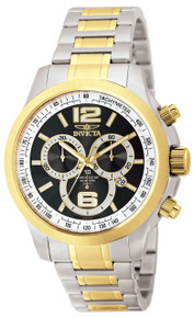 Invicta Men's 0080 Specialty Quartz Chronograph Black Dial Watch