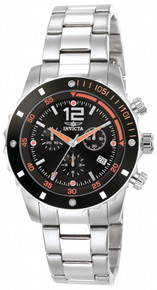 Invicta Men's 1245 Specialty Quartz 3 Hand Black Dial Watch