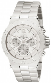Invicta Men's 1265 Specialty Quartz 3 Hand Silver Dial Watch