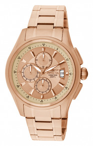 Invicta Men's 1485 Specialty Quartz Chronograph Rose Gold Dial Watch