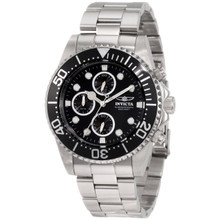 Invicta Men's 1768 Pro Diver Quartz Chronograph Black Dial Watch