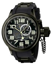 Invicta Men's 5861 Russian Diver Quartz GMT Black Dial Watch