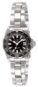 Invicta Women's 7059 Signature Quartz 3 Hand Black Dial Watch