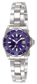Invicta Women's 7060 Signature Quartz 3 Hand Blue Dial Watch