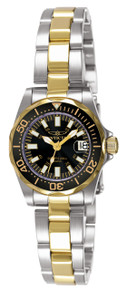 Invicta Women's 7063 Signature Quartz 3 Hand Black Dial Watch