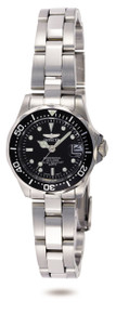 Invicta Women's 8939 Pro Diver Quartz 3 Hand Black Dial Watch