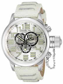 Invicta Men's 10554 Russian Diver Quartz Chronograph Silver Dial Watch