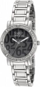 Invicta Women's 10676 Wildflower Quartz 3 Hand Dark Grey Dial Watch