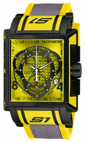 Invicta Men's 11695 S1 Rally Quartz Chronograph Yellow Dial Watch