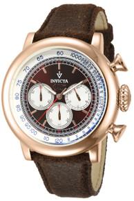 Invicta Men's 13059 Vintage Quartz 3 Hand Brown Dial Watch