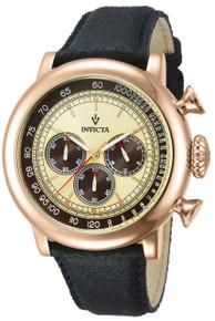 Invicta Men's 13060 Vintage Quartz 3 Hand Ivory Dial Watch
