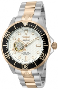 Invicta Men's 13707 Pro Diver Automatic 3 Hand Metallic White Dial Watch