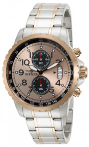 Invicta Men's 13784 Specialty Quartz Chronograph Rose Gold Dial Watch