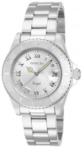 Invicta Women's 14320 Angel Quartz 3 Hand Silver Dial Watch