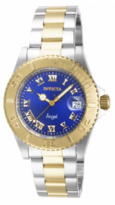 Invicta Women's 14363 Angel Quartz 3 Hand Blue Dial Watch