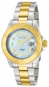 Invicta Women's 14364 Angel Quartz 3 Hand White Dial Watch