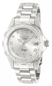 Invicta Women's 14396 Angel Quartz 3 Hand Silver Dial Watch