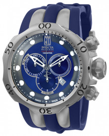 Invicta Men's 14415 Jason Taylor Quartz Chronograph Blue, Gunmetal Dial Watch