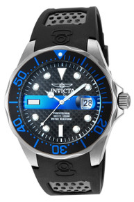 Invicta Men's 14838 Pro Diver Quartz 3 Hand Black, Blue Dial Watch