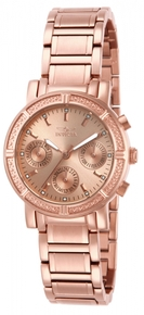 Invicta Women's 14874 Wildflower Quartz 3 Hand Rose Gold Dial Watch
