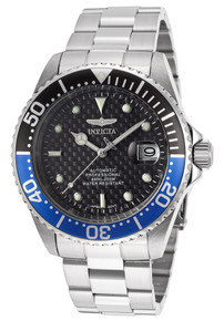 Invicta Men's 15584 Pro Diver Automatic 3 Hand Black Dial Watch
