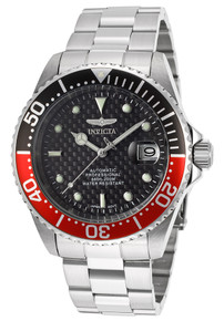 Invicta Men's 15585 Pro Diver Automatic 3 Hand Black Dial Watch