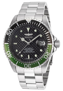 Invicta Men's 15586 Pro Diver Automatic 3 Hand Black Dial Watch