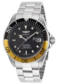 Invicta Men's 15587 Pro Diver Automatic 3 Hand Black Dial Watch