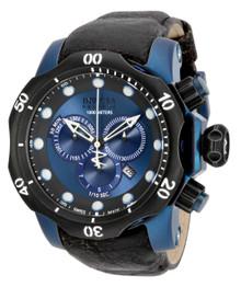 Invicta Men's 15988 Venom Quartz Chronograph Black, Blue Dial Watch