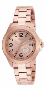 Invicta Women's 16328 Specialty Quartz 3 Hand Rose Gold Dial Watch