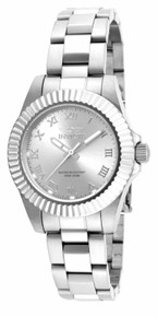 Invicta Women's 16761 Pro Diver Quartz 3 Hand Silver Dial Watch