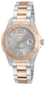 Invicta Women's 17022 Pro Diver Quartz 3 Hand Light Grey Dial Watch