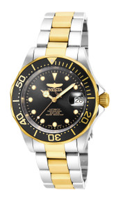 Invicta Men's 17043 Pro Diver Automatic 3 Hand Black Dial Watch