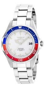 Invicta Men's 17047 Pro Diver Quartz 3 Hand White Dial Watch