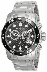 Invicta Men's 17082 Pro Diver Quartz Chronograph Black Dial Watch