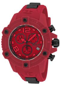 Invicta Men's 17295 Reserve Quartz Chronograph Red Dial Watch