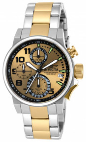 Invicta Women's 17428 I-Force Quartz Chronograph Black, Gold Dial Watch