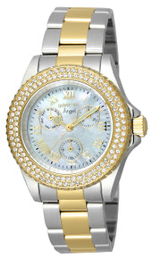 Invicta Women's 17437 Angel Quartz Chronograph White Dial Watch