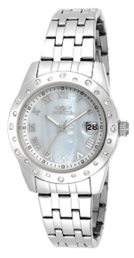 Invicta Women's 17487 Angel Quartz 3 Hand White Dial Watch