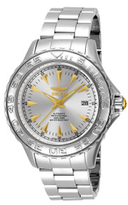 Invicta Men's 17584 Pro Diver Automatic 3 Hand Silver Dial Watch