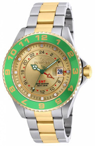 Invicta Men's 18245 Pro Diver Quartz 3 Hand Gold Dial Watch